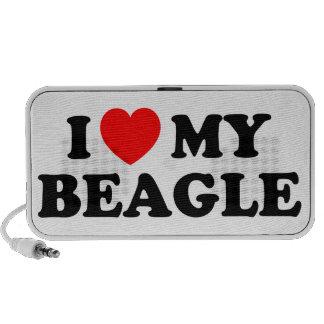I Love my Beagle Doodle Travel Speaker