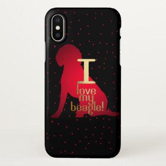 I Love My Beagle! iphone X case