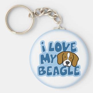 I Love My Beagle Keychain