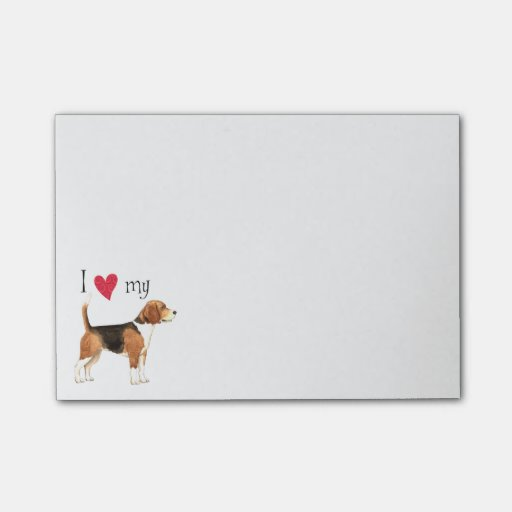 Image of I Love my Beagle Post-it Notes