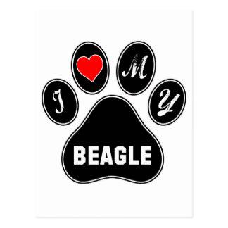 I love my Beagle. Postcard