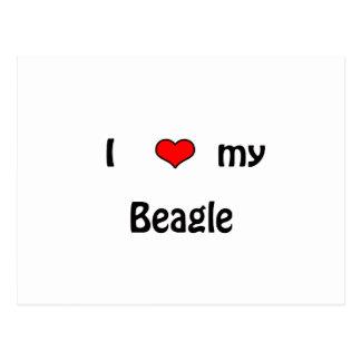 I Love My Beagle Post Cards