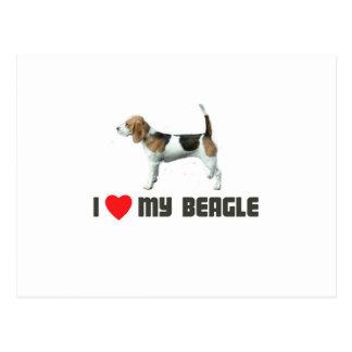 I Love My Beagle Postcard