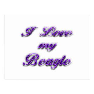 I Love my Beagle Postcards