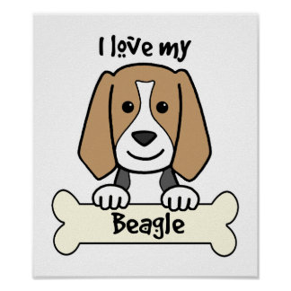 I Love My Beagle Poster