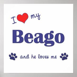 I Love My Beago Male Dog Print