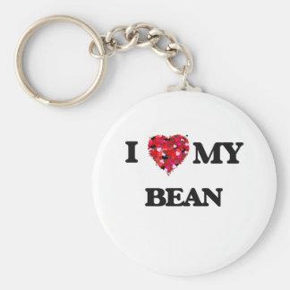 I Love MY Bean Key Ring