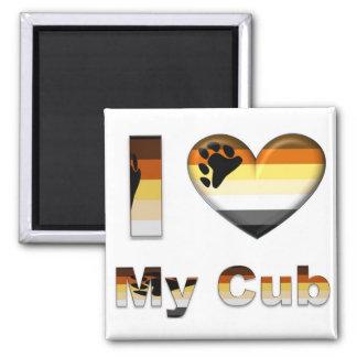 I Love My Bear / Cub Square Magnet