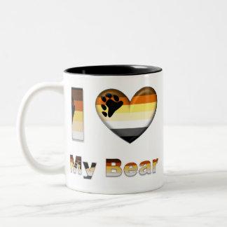 I Love My Bear / Cub Two-Tone Mug