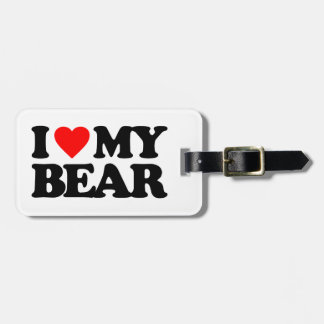 I LOVE MY BEAR LUGGAGE TAG