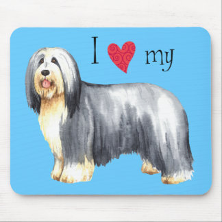 I Love my Bearded Collie Mouse Pad
