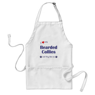 I Love My Bearded Collies (Multiple Dogs) Standard Apron