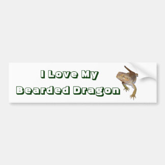 I Love My Bearded Dragon Bumper Sticker