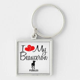I Love My Beauceron Dog Key Ring