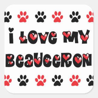 I Love My Beauceron Square Sticker