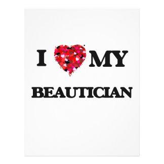 I love my Beautician 21.5 Cm X 28 Cm Flyer