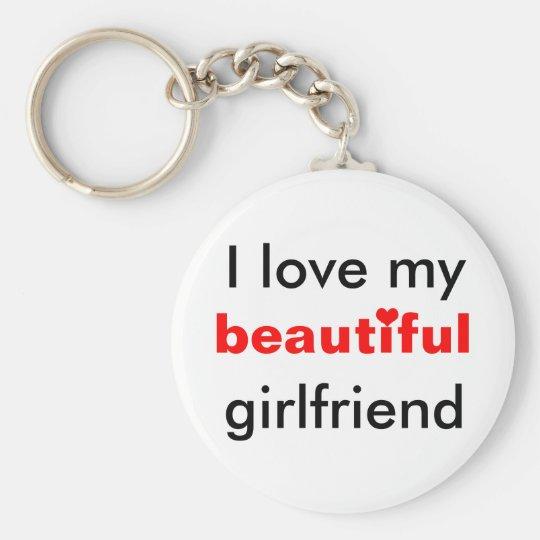 I love my beautiful girlfriend basic round button