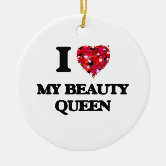 I love My Beauty Queen Round Ceramic Decoration