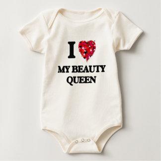 I love My Beauty Queen Baby Creeper