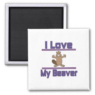 I Love My Beaver Magnet