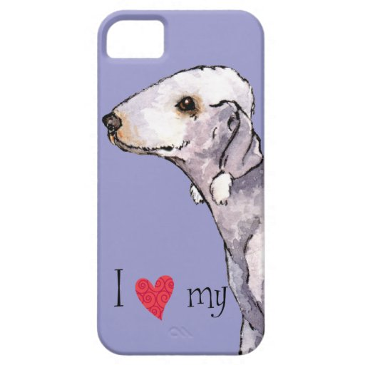 I Love my Bedlington Terrier iPhone 5 Covers