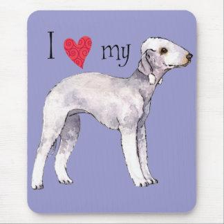 I Love my Bedlington Terrier Mouse Pad