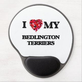 I love my Bedlington Terriers Gel Mouse Pad
