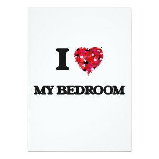 I love My Bedroom 13 Cm X 18 Cm Invitation Card
