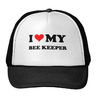 I Love My Bee Keeper Hats