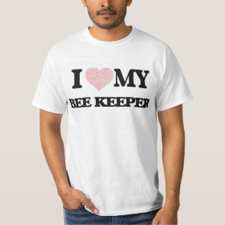 I love my Bee Keeper (Heart Made from Words) Tshirt