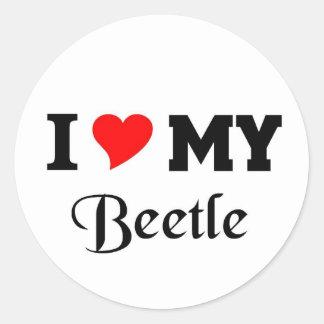 I love my Beetle Round Sticker