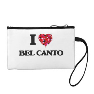 I Love My BEL CANTO Change Purse