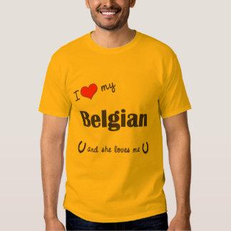 I Love My Belgian (Female Horse) Tee Shirt