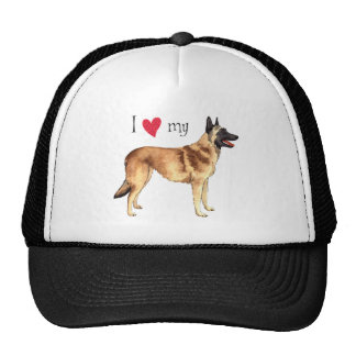 I Love my Belgian Malinois Cap