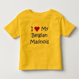 I Love My Belgian Malinois Dog Lover Gifts Toddler T-Shirt