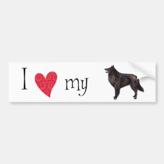 I Love my Belgian Sheepdog Bumper Sticker