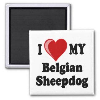 I Love My Belgian Sheepdog Dog Fridge Magnets