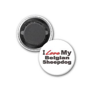 I Love My Belgian Sheepdog Merchandise Fridge Magnets