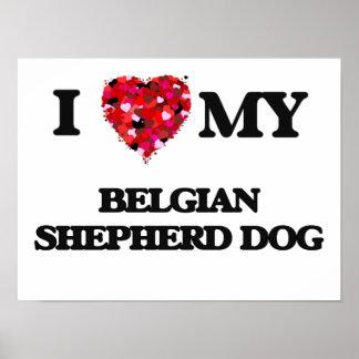 I love my Belgian Shepherd Dog Poster