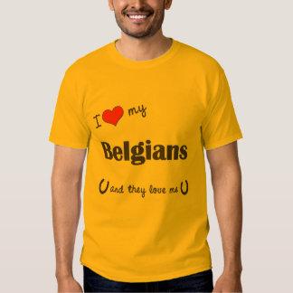 I Love My Belgians (Multiple Horses) Shirts