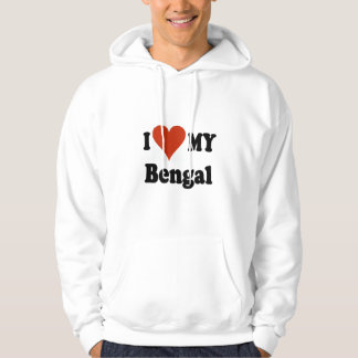 I Love My Bengal Cat Gifts and Apparel Hoodie