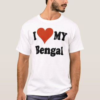 I Love My Bengal Cat Merchandise T-Shirt
