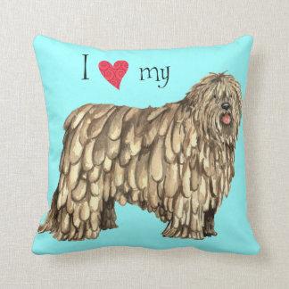 I Love my Bergamasco Throw Pillow