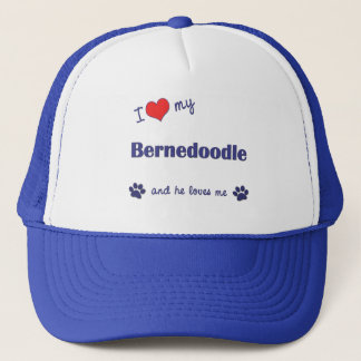 I Love My Bernedoodle (Male Dog) Trucker Hat