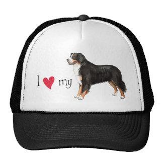 I Love my Bernese Mountain Dog Cap