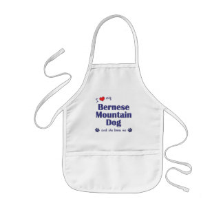 I Love My Bernese Mountain Dog (Female Dog) Kids Apron