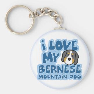 I Love My Bernese Mountain Dog Keychain
