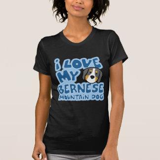 I Love My Bernese Mountain Dog Ladies Twofer Shirt