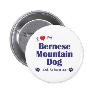 I Love My Bernese Mountain Dog (Male Dog) 6 Cm Round Badge