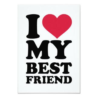"""I love my best friend 3.5"""" x 5"""" invitation card"""